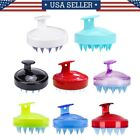 Silicone Shampoo Scalp Shower Body Washing Hair Massage Massager Brush Comb US