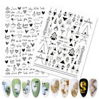 Butterfly 3D Nail Stickers Geometric Transfer Decals Nail Art Decoration Paper
