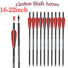 16-22'' Carbon Shaft Crossbow Bolts Hunting Arrows 100GR Replacement Field Tips