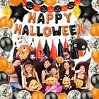 Halloween Balloons Arch Garland Kit Party Foil Confetti Ghost Birthday Decor