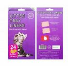 24Pack Kitty Cat Kitten Litter Tray Liners with Ties EasyTo Apply Lemon Scented