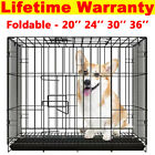 Dog Cage Puppy Pet Crate Carrier with Tray- Small Medium Large Extra Large Sale!