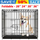 Folding Cage Pet Puppy Crate Carrier Dog Home Training Portable Cages S M L XL