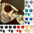 Mens Womens Vintage Retro Flip-up Lens Steampunk Sunglasses Round Eye Glasses US