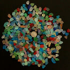 sea beach glass mixed color lot bulk wholesale blue green red yellow jewelry use