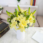 [jb] Lifelike Lily Bouquet Fake Flower Wedding Home Flower Artificial Decoration