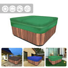 Hot Tub Spa Cover Anti-UV Dustproof Waterproof Oxford Fabric Green 4 Size