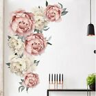 Large Peony Rose Flower Wall Sticker Living Room Home Background Diy Decal Uk