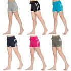 Ladies Girls Summer Cotton Holiday Beach Hotpants Gym Workout Shorts Size 10-24