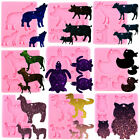 Animals Family Keychain Silicone Resin Mold Necklace Pendant Earring Epoxy Craft
