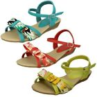 Spot On Girls Summer Bow Front Sandals