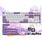 Anime Re Zero Keycap 131 Keycaps Emilia PBT Cherry Height for Cherry MX Keyboard