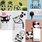 Cute Cartoon Animal Wall Stickers Switch Decals Pvc Waterproof Home Decor Paster