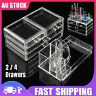Cosmetic 4 Drawer Makeup Organizer Acrylic Jewelry Clear Storage Holder Box New