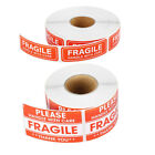 1 Roll 2  x 3  Fragile Handle With Care Stickers Labels, 500 Per Roll