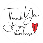 30 THANK YOU FOR YOUR PURCHASE SMALL BUSINESS SEALS LABEL STICKERS 1' ROUND