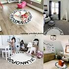ABC Kids Rug Alphabet Educational Area Rugs for Infant Round 59 Inches Grey
