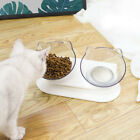 Dog Cat Raised Water Cute Design With Stand Non Slip Adjustable Drinking Bowls