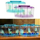 LED Light Triple Cube Betta Aquarium Fish Tank Box Spawning Separate K5A3