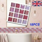 18pcs Wall Stickers Home Decoration Accessories Supplies Waterproof Bathroom Set