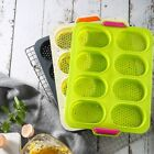 Silicone Bread Mold Baguette Pan bakeware French Baking Tray 8 Roll Non-stick US