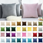 "18"" 20"" Large Plain Velvet Soft Cushion Cover Pillow Case Sofa Car Home Decor Uk"