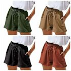 Women's Shorts Casual Loose Elastic Wide Leg Pants Solid Summer Short Trousers