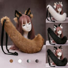 Cute Fun Wolf Ears Fur Ears Headband Anime Tail Cosplay Party Costume Props NEW
