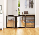 PAWLAND Extra Wide Dog Gate for the House, Doorway, Stairs, Freestanding Foldabl