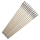 """12PCS Archery 33"""" Hunting Wooden Traditional Arrow Recurve Bow Hunting Spine 500"""
