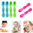 Baby Soft Silicone Spoons Feeding Set Kids Dishes Toddlers Infant Feeding Tools