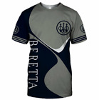 New Beretta T-Shirt for Men - Full Printing - US Size L2179 S To 5XL