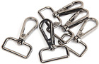 Jwbiz 15 Pcs D Ring Swivel Lobster Claw Clasp, Push Gate Snap Hooks Trigger Clip