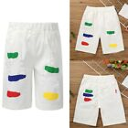 Little Kids Boys Girls Pants Casual Summer Colorful Printed Middle-length Shorts