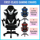 Ergonomic Computer Game Gaming Chair Recliner W/ Massage & Extendable Footrest