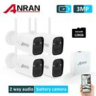 ANRAN 2K HD CCTV WIFI Security Camera Wireless System Battery Powered Outdoor IR