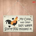 Chicken Plaques Wooden Hanging Signs Chicken Coop Home Wall Decor Outdoo TDUKLAP
