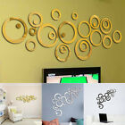 Removable 3d Mirror Wall Stickers Circle Decal Art Mural Home Room Decor