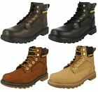 Mens Leather Lace Up Caterpillar Casual Boots 4 Colours UKSizes 7-12 Stick Shift
