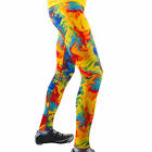 Mens PADDED Cycling Tights Yellow Tie Dye bike bicycling bright color