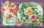 Valentine Love Offering Roses Cotton Block Multi Sizes