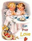 Eat Pray Love Children Crazy Quilt Block Multi Sizes FrEE ShiPPinG WoRld WiDE