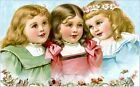 3 Sweet Victorian Girls Pastels Quilt Block Multi Sizes FrEE ShiPPinG WoRld WiDE