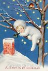 Sleeping Christmas Snow Baby Quilt Block Multi Sizes