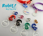 RUBIT Dog Pet Tag CLIP  Quick Release Dog ID Tag Holder for Dog Collar