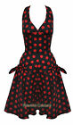 HELL BUNNY 50s SUN POLKA DOT 50s KITSCH DRESS UK 6 - 14