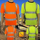 Hi Vis Safety Yellow Orange T Shirt New EN 471