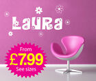 Wall Stickers, kids, Personalised Names - Girls Flower