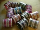24 Indian Bangles Bracelets Bollywood Gold Glitter COLO