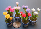 1:12 Bunch Of 3 Carnations In A Pot Dolls House Miniature Flower Accessory